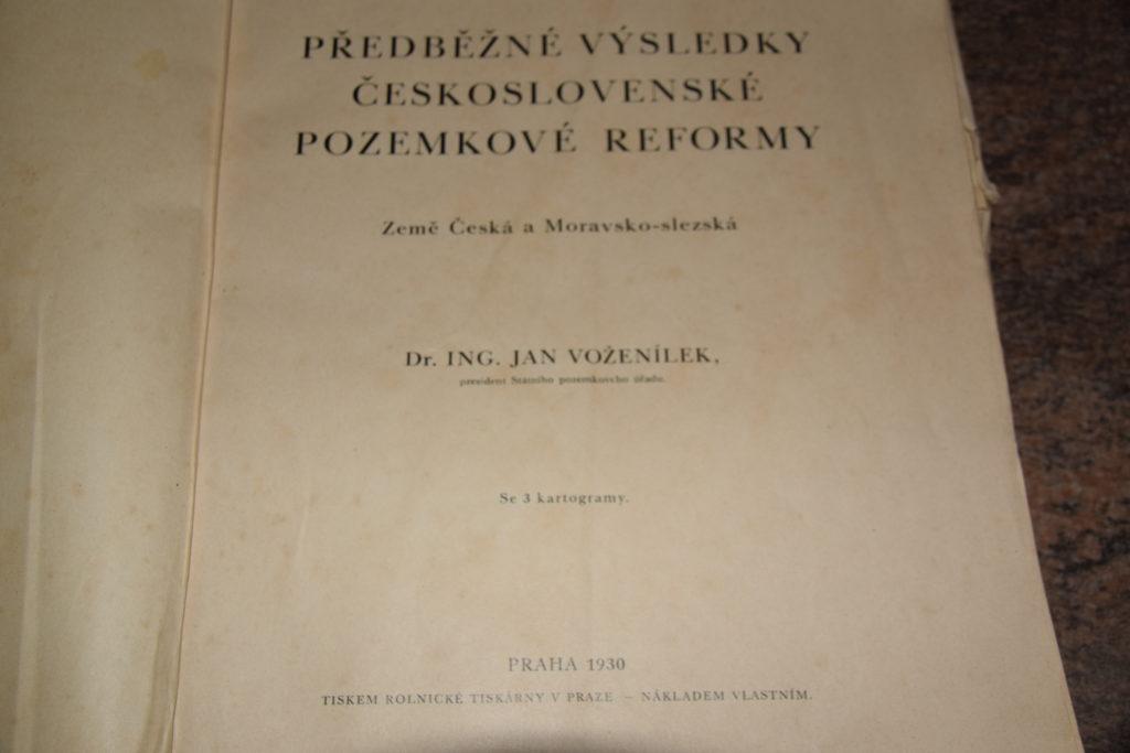 Předběžné výsledky československé pozemkové reformy